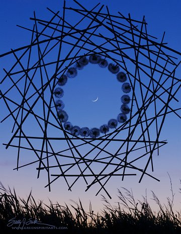 """New Moon Sculpture"" by Sally J. Smith at Greenspiritarts"